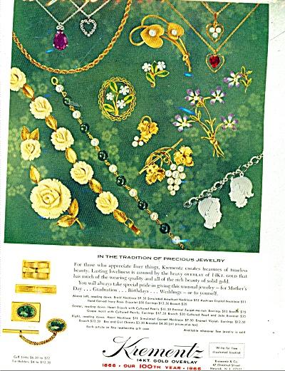 Krementz Jewelry ad 1965 (Image1)