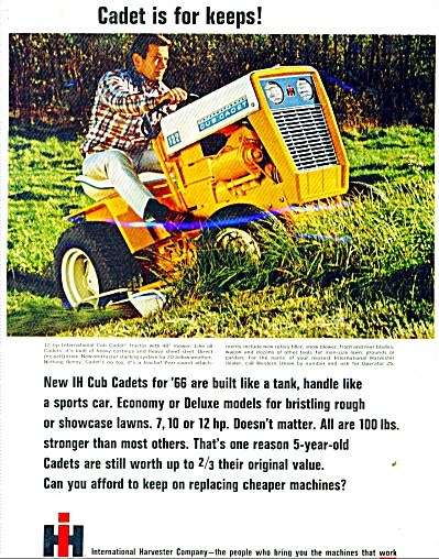 International Harvester Company  Cadet tracto (Image1)