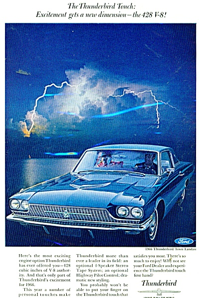 Thunderbird automobile for 1966 ad (Image1)