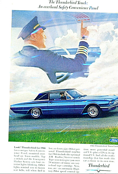 Thunderbird automobile ad for 1966 (Image1)