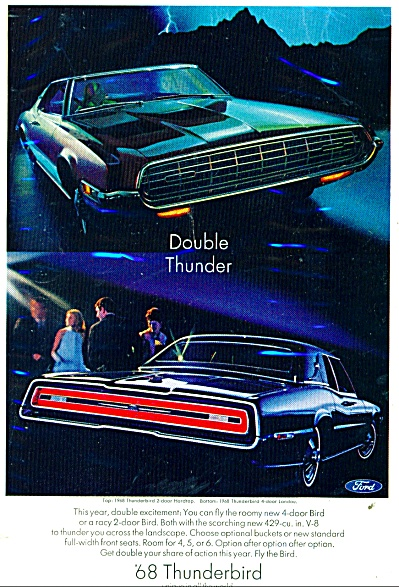 Thunderbird auto for  1968 ad (Image1)