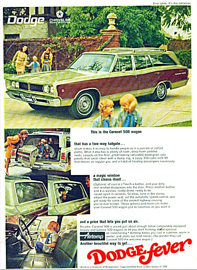 Dodge Coronet 500 wagon ad for 1968 (Image1)