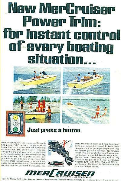 MerCruiser motor boats ad 1968 (Image1)