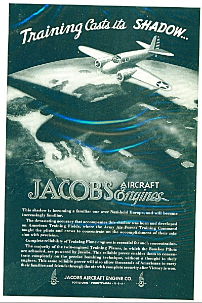 Jacobs Aircraft Engine Co. ad  1943 (Image1)