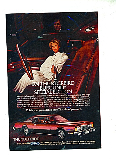 Thunderbird Burgundy special edition for 1974 (Image1)