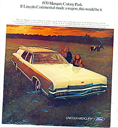 Lincoln Mercury Marquis Colony Park for 1970 (Image1)