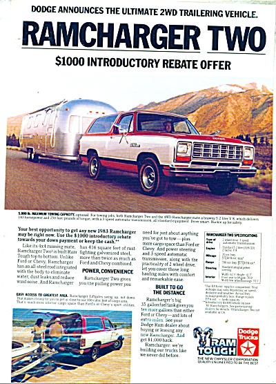 Ramcharger Dodge ad  1982 (Image1)