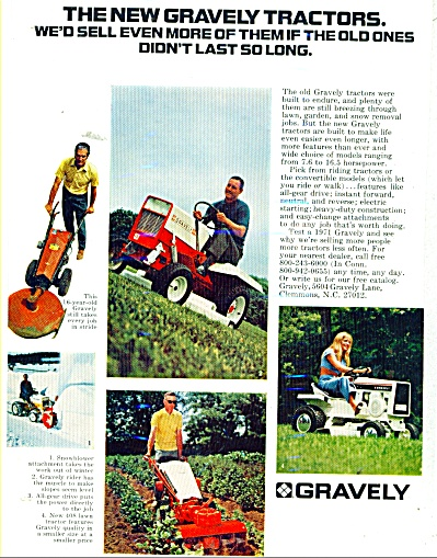 Graveley lawn tractors ad  1971 (Image1)