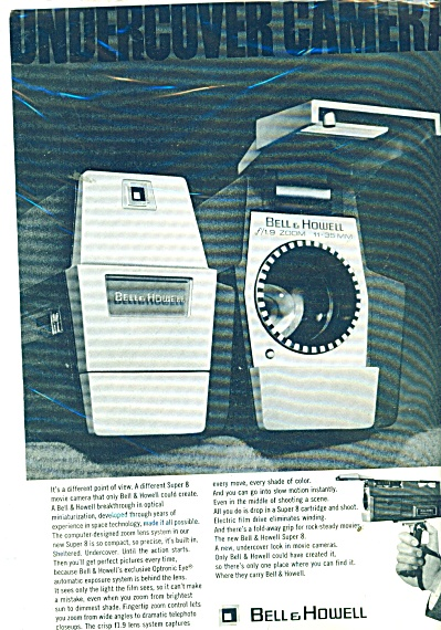 1968 Bell & Howell Super 8 Movie CAMERA AD (Image1)