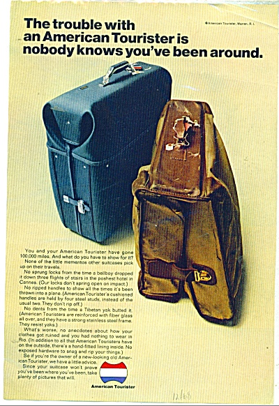 American Tourister luggage ad  - 1968 (Image1)
