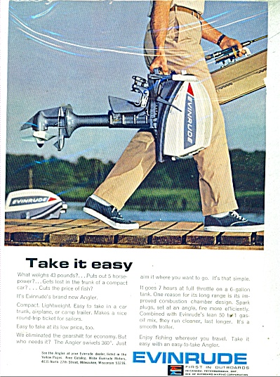 Evinrude outboard motors ad Boat ANGLER (Image1)