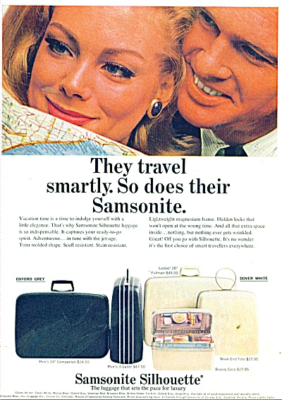 1965 Samsonite Luggage ANNE De ZOGHEB AD (Image1)