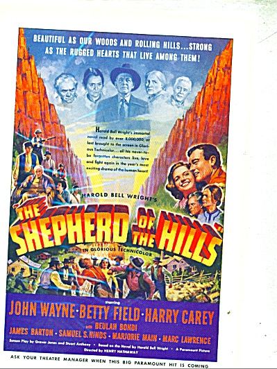 Movie: Shepherd of the hills -JOHN WAYNE - ad (Image1)