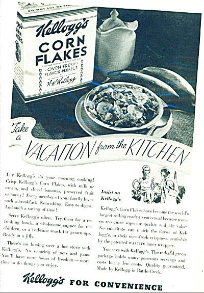 Kellogg's Corn Flakes ad - 1935 (Image1)