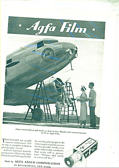 AGFA Ansco Corporation ad - 1935 (Image1)