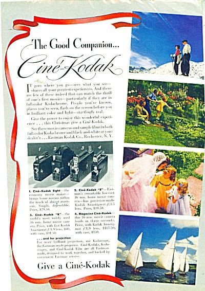 Cine Kodak Company 1939 ad (Image1)