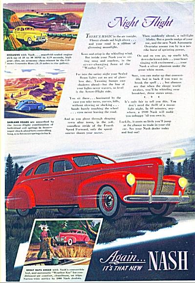 1940 Nash Automobile Car AD RED CAR ART SIP (Image1)