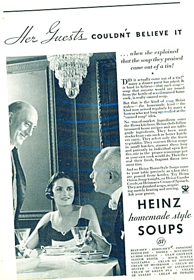 1935 Heinz 57 AD - Young Woman ~ Old Man PHOTO Butler (Image1)