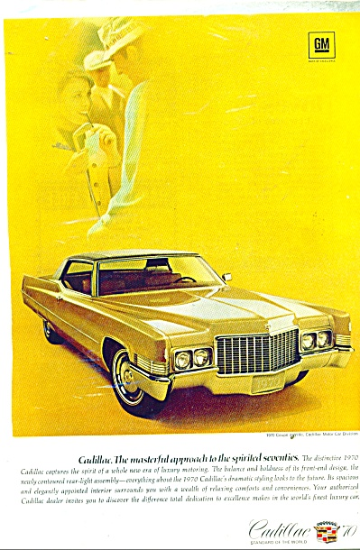 Cadillac Automobile For 1970 Ad