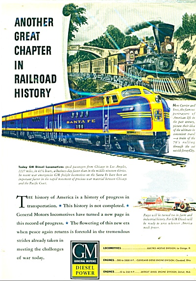 1943 GM Diesel power  AD SANTA FE TRAIN (Image1)