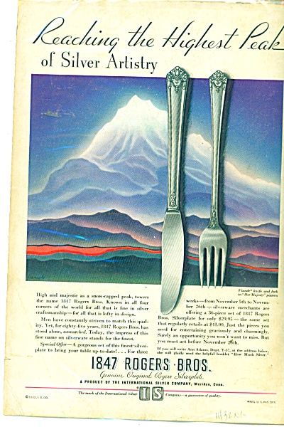 1847 Rogers Bros. Silverplate Ad 1932