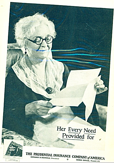 1932 Prudential Insurance AD Old Lady in Chai (Image1)