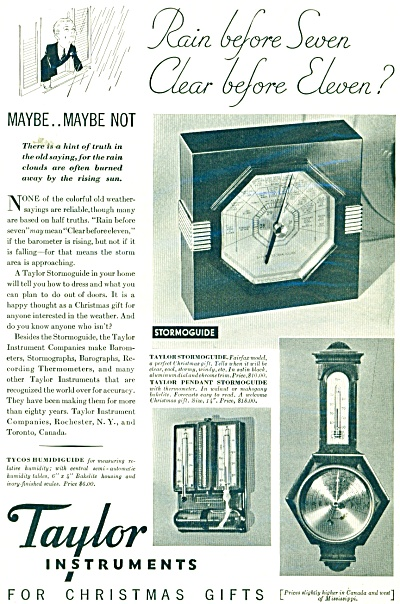 Taylor Instruments ad  1932 (Image1)