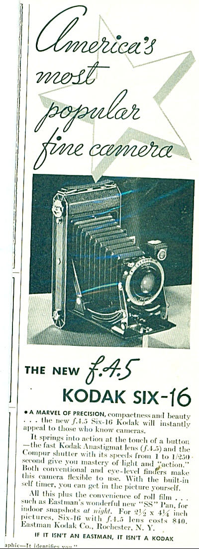 Kodak six - 16 camera ad 1934 (Image1)
