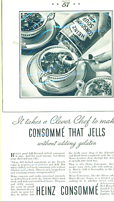 1934 Heinz Consomme Ad 1934 It Jells