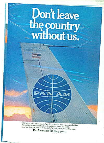 Pan Am Airlines Ad