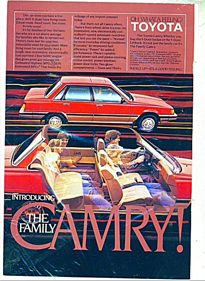 Toyota CAMRY Automobile for 1983 ad (Image1)