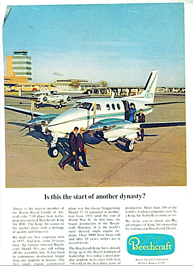 Beechcraft Aircraft Corporation Ad 1968