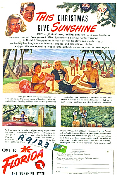 Florida travel brochure ad 1947 (Image1)