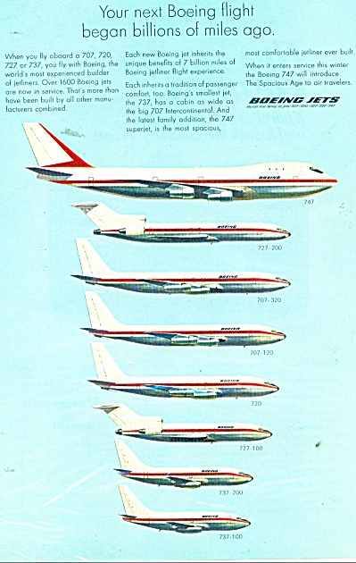 Boeing Jets Ad - 1969