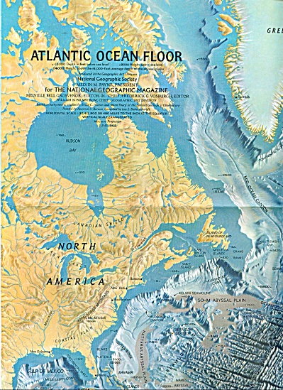 Atlantic Ocean Floor map - 1968 (Image1)