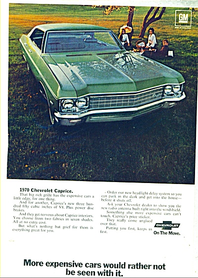 Chevrolet Caprice for 1970 ad (Image1)