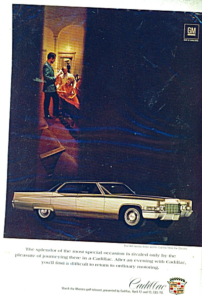 1969 Cadillac Sedan DeVille CAR AD - 3 People (Image1)