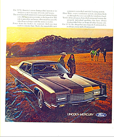 Lincoln Continental ad for 1970 (Image1)