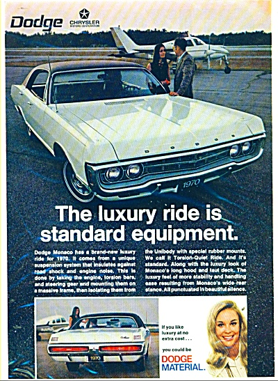 Dodge Monaco for 1970 ad WHITE CAR (Image1)