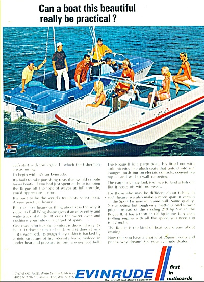 1969 Evinrude Outboard Boat Motor AD (Image1)