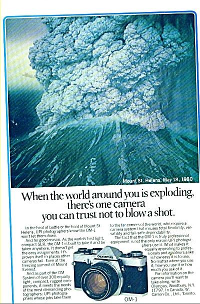 OlympusOM-a Camera  ad 1981 (Image1)