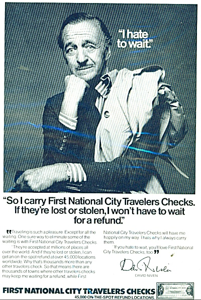 First National City Travelers checks -  1976 (Image1)