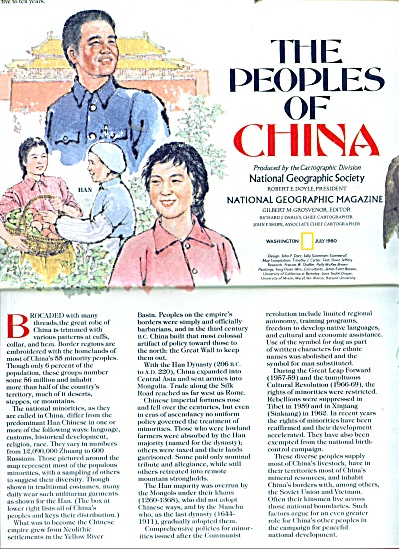 The Peoples of China Map and story - 1980 (Image1)