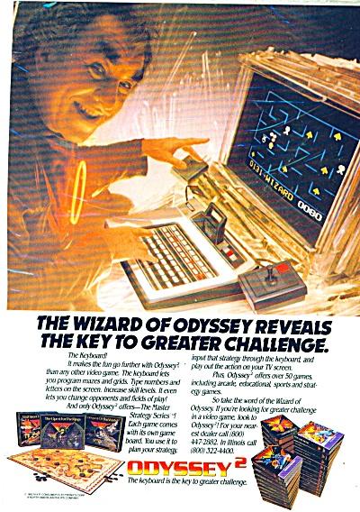 1982 Print Ad Magnavox Odyssey 2 Video Game Computer  (Image1)