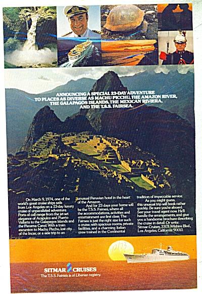 Sitmar Cruises ad 1973 (Image1)