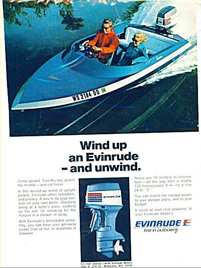 1973 Evinrude Boat Motor AD WIND - UNWIND (Image1)