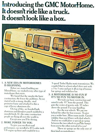General Motors Motor Home Ad 1973
