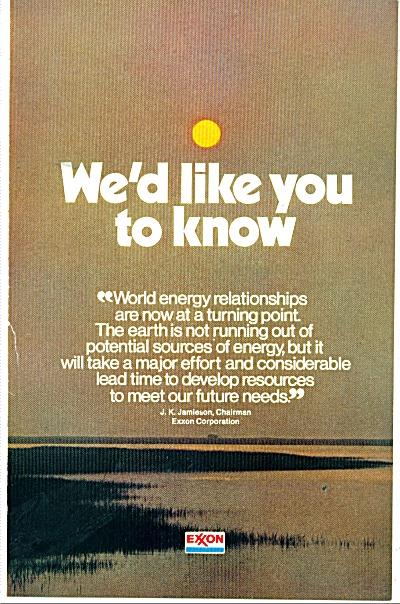 Exxon Corporation ads 1973 (Image1)