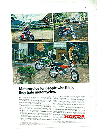 1973 Honda motorcycles AD ATC 70  CT 70 K2 and More (Image1)