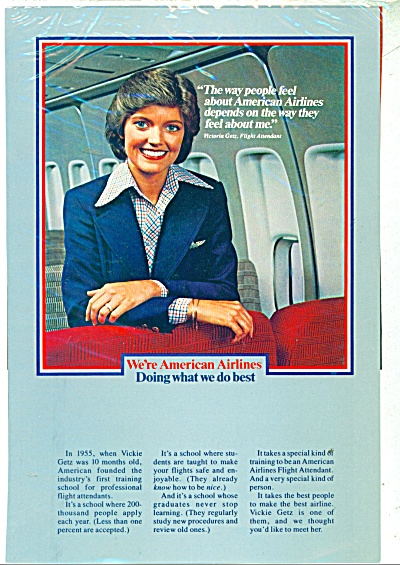 American Airlines ad VICTORIA GETZ FLIGHT ATTENDANT (Image1)